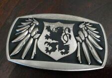 vintage belt buckle Griffin wings
