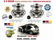 FOR LEXUS RX330 RX350 RX400H 2003-> NEW 2X REAR WHEEL BEARING KITS COMPLETE