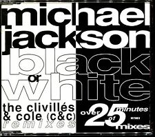 MICHAEL JACKSON - BLACK OR WHITE - MAXI CD OVER 25 MINUTES OF MIXES [1405]