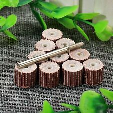 10PCS 240 Grit Flap Sanding Wheel Head Disc Grinder with 3mm Arbor Rotary Craft