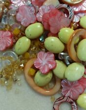 "Bead Empress Bead Mix:  ""Tropicana"" Hot Pink, Orange & Kiwi Greens Bead Mix"