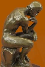 "Bronze Sculpture Statue 7.5"" The Thinker Rodin Sculpture Museum Reproduction"