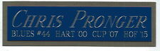CHRIS PRONGER BLUES NAMEPLATE AUTOGRAPHED Signed STICK-PUCK-JERSEY-PHOTO-HELMET