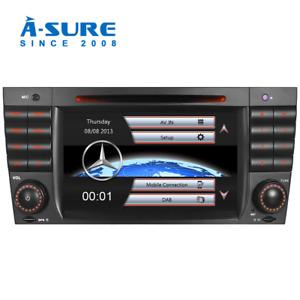 DAB+ DVD Player BT GPS sat nav for Mercedes Benz C Class CLK CLC W203 W209 AMG