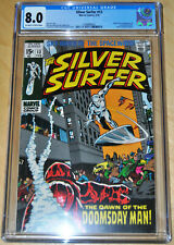 Silver Surfer #13 CGC 8.0 (1st App & Origin Doomsday Man) OFF-WHITE/WHITE PAGES!