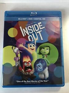 Inside Out (Blu-ray/DVD, 2015, 3-Disc Set, Includes Digital Copy)