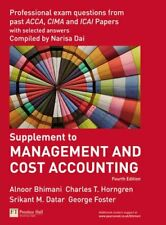 Management and Cost Accounting Professional Questions By Charles T. Horngren, A