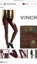 Vince   NWT Leggings Pants Skinny Jeans Black Mulberry Women  27  Baroque lace