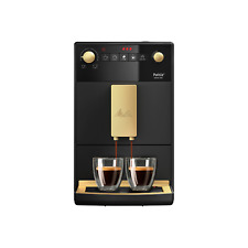 More details for melitta purista limited edition bean to cup coffee machine - black & gold