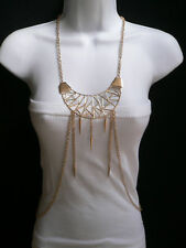 Metal Body Chains Long Jewelry Charm Women Necklace Fashion Gold Large Pendant