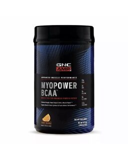 GNC AMP MYOPOWER BCAA - Tangy Orange, 20 Servings, Supports Muscle Protein