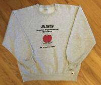 Vintage 90's Russell ASS Apple Squeezers Society Sweatshirt OG Hip Hop Sz. L