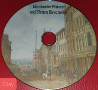Manchester history & Slater's Directories 60 pdf ebooks local genealogy on disc