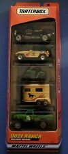 1998 Matchbox 5 Pack Set Dude Ranch Exclusive Designs Horse Trailer! New!