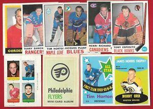 1969-70 O PEE CHEE OPC NHL HOCKEY CARD 133-231 + FOUR IN ONE & ALBUM SEE LIST