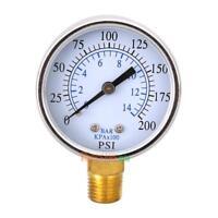 "Air Compressor Hydraulic Pressure Gauge 2"" Face Side Mount 1/4"" NPT 200PSI #ORP"