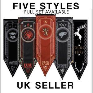 Game of Thrones House Banner Flag Wall Hanging Drape Stark Targaryen Lannister