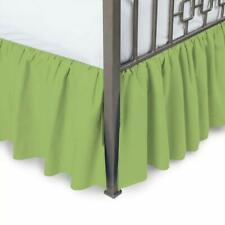 Ruffled bed skirt with Split Corner 3 Sided Coverage Microfiber All Size & Drop