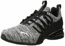 PUMA Men's Axelion Sneaker, Black White, 7 M US
