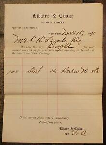 1910 Stock Achat Reçus, New York Stock Exchange 100 Shares De Acier ~# 840B