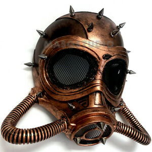 Copper Full Face Gas Mask Rose Gold Steampunk Cosplay Halloween Costume Party