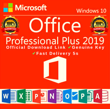 🔓🔓MS®Office✔️2019🔥Pro✔️Plus 32/64 Bit✔️License K.E.Y GENUINE🔓
