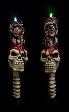 Halloween Candles (2)  Bloody Skulls Halloween Decor Haunted House Props