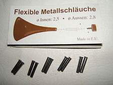 10x 2.5 2.8mm METAL STILETTO HEEL SHOE TIP PIN LINER SPACER FLEXI-TUBE FLEXITUBE