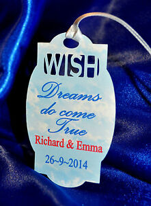 40 x Personalised Wish Tree~Favour tags~Wish Tree Poem~Choice of ribbon colour