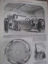 La máquina panificable de Steven parroquia taller de impresión de Londres 1858