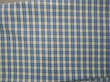 "60"" Wide Gorgeous Pierre Deux Blue Cream French Country Check Plaid Fabric"
