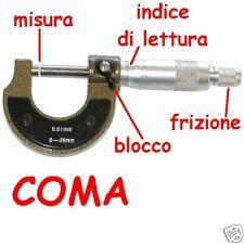 micrometro 0 / 25 mm 0-25 strumento di misurazione 0,01 - 2897