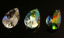 New Lots 30Pcs 38mm Pear Shaped Teardrop Crystal Glass Bead Foil backed Pendants