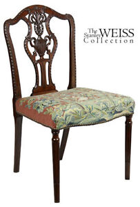 SWC-Fine Sheraton Carved Side Chair, England, c.1790