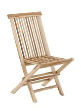 Outdoor Patio Nordic Style Natural Teak Wood Folding Chair