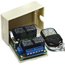 Scheda Ricevente Ricevitore 230V 433 Mhz 1 Canale Relè 12V 50A con Telecomando