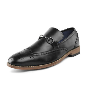 Bruno Marc Mens Oxford Shoes Slip on Loafers Wingtip Casual Shoes