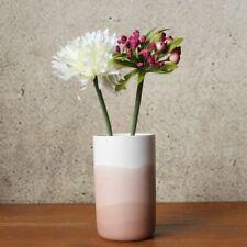 White And Peach Horizon Cylinder Bud Vase 14cm