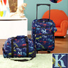 Luggage for Kids Boys Set Small Rolling Suitcase Duffel Bag Dinosaur Letter K