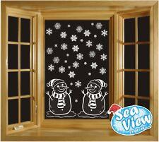 60 Fiocco di Neve & Pupazzi di Neve Finestrino Adesivi Riutilizzabile Natale statico Cling
