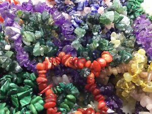 Natural Gemchip Bracelet, Amethyst, Rose Quartz, Many More available