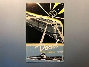 Vintage 1950s GM Diesel Power Fuel Bus Ship Train Truck Manual engine history 🔥