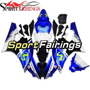 Glossy Blue With White Lowers WYNMOTO US Stock Sportbikes Full Fairing Kit Fit for Yamaha YZF600 R6 2006 2007 yzf r6 06 07 ABS Plastic Injection Cowlings