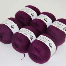 6Ballsx50g Pure Sable Cashmere Hand Knitwear Wool Shawls Soft Crochet Yarn 21