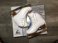 Jackson Elle Girls Figure Skates: size-3 W Great Condition!