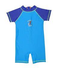 NEW! AUTHENTIC DISNEY BABY OVERALL RASHGUARD SWIMWEAR (AQUA/ROYAL, SIZE 18-24M)