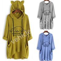 Women Casual Pullover Jumper Hoodie Sweater Long Sleeve Hooded Sweatshirt Top