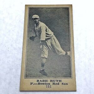 Old Antique Style Babe Ruth The Globe Baseball Card 1900's Type Advertisement