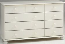 Steens Richmond White 2+3+4 Chest of Drawers Metal Drawer Runners