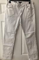 Men's Michael Kors Parker Slim Fit Pants 34X32 Color: White